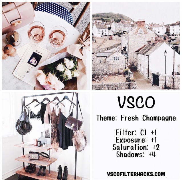 Fresh Champagne Instagram Feed - VSCO Filter C1