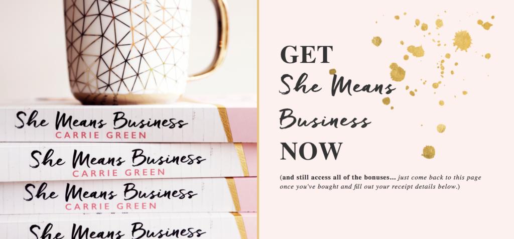 Primer: Carrie Green, avtorica + lastnica platforme Female Entrepreneur Association